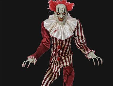 7 Foot Tall Evil Clown Animated Prop is new for 2017