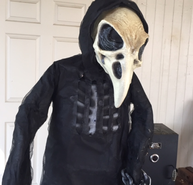 Making a Bad Halloween Prop Scary: Home Accents Angel of Death