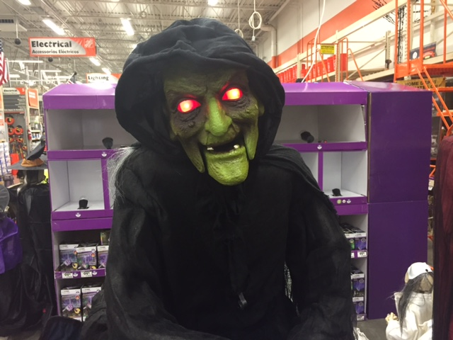 Home Depot Brings Back a Slightly Different Home Accents Witch Animated Prop for 2017