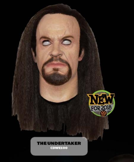 Trick Or Treat Studios Unveils New 2018 WWE Masks Featuring The Undertaker