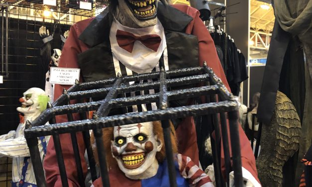 New For 2019: Psycho Circus Cagey Clown Animated Prop