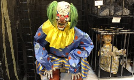 New For 2019: Crouching Clown Animatronic Halloween Prop
