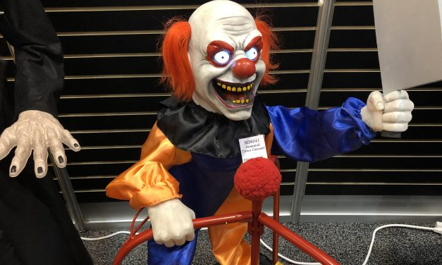 New For 2019: Clown Carousel Halloween Prop