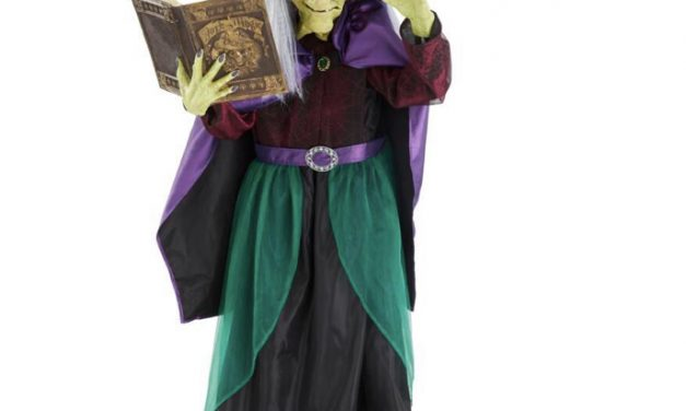 New For 2020: Animated Book Witch From Home Depot