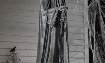 New For 2020: Animated LED Cemetery Statue From Home Depot