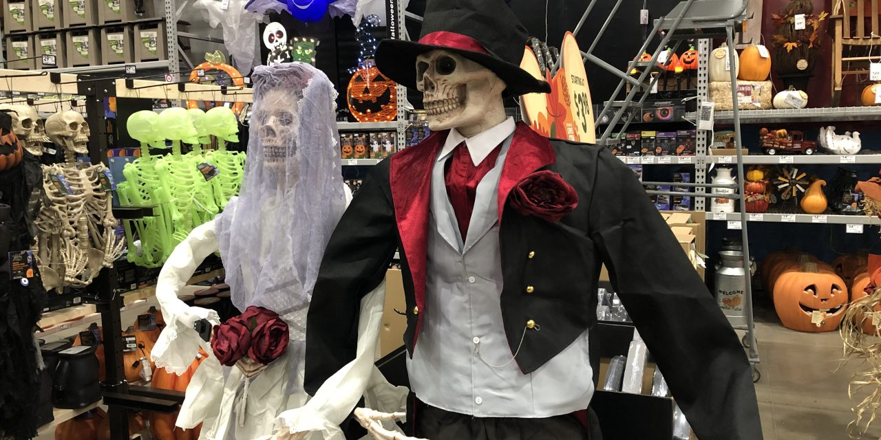 New For 2020: Holiday Living Bride and Groom Skeleton From Lowes