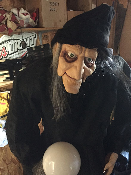 Home Depot Discounting 6′ Animatronic Witch Before Halloween