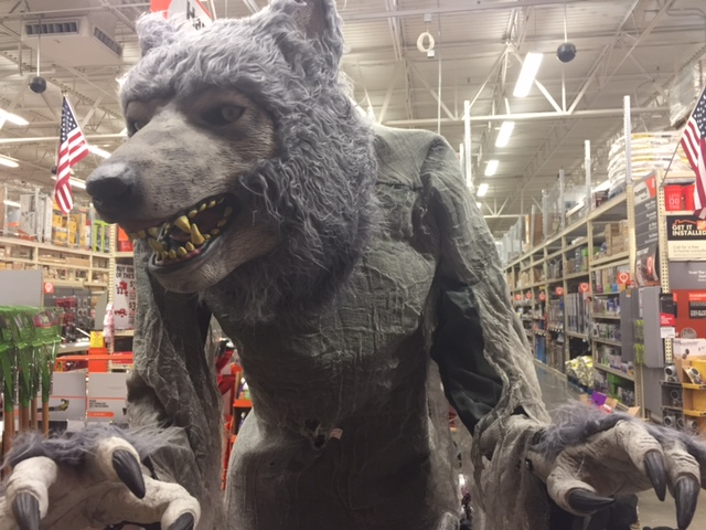 home depot introduces gray 7 ft towering werewolf for halloween 2017
