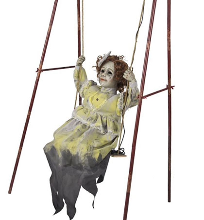 Swinging Sally Animatronic is new for Halloween 2017 at Spirit Halloween