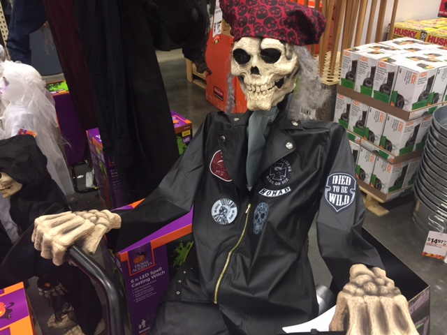 Home Depot Introduces the Motorcycle Riding Reaper for Halloween 2017