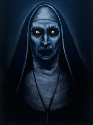 New For 2018: Animated Giant Possessed Nun From Party City