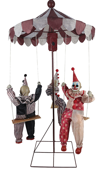 New For 2018: Clown Go Round Animated Prop