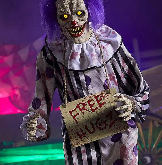 new for 2018 hugz the clown from spirit halloween