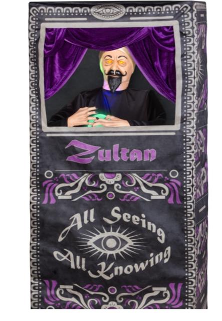 Halloween Fortune Teller Animatronic.New For 2018 Zultan The Fortune Teller From Lowes