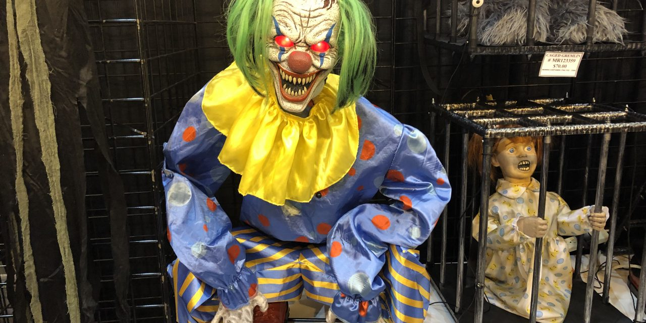 New For 2019: Crouching Clown Animatronic Halloween Prop