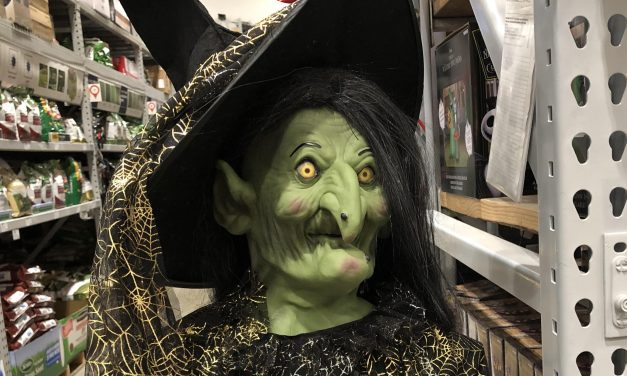New For 2019: Haunted Living Witch From Lowes