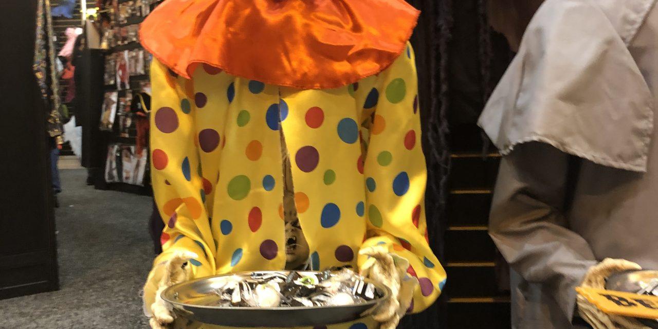 Animated Clown Halloween Prop From Morbid Enterprises