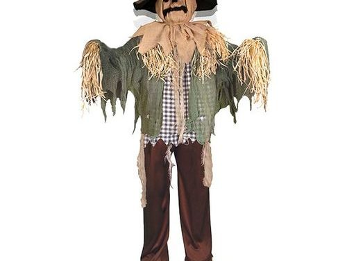 New For 2020: Animated Standing Surprise Scarecrow