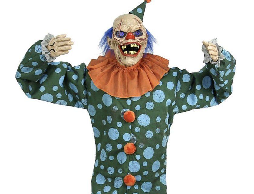New For 2020: Peek-A-Boo Clown Animatronic From Spirit Halloween